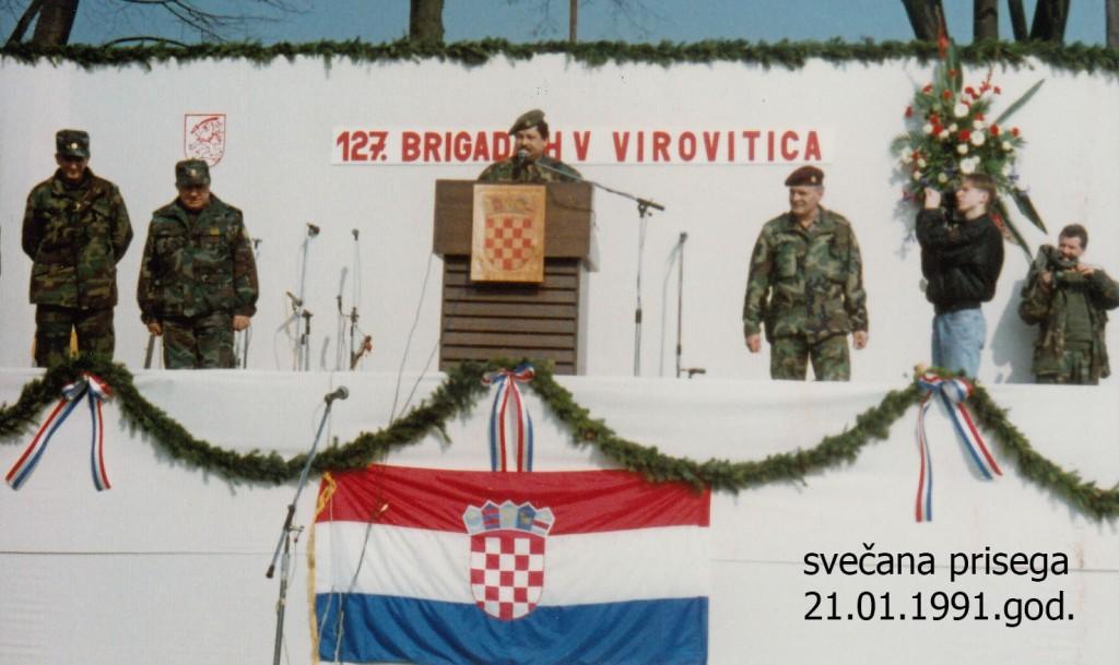 Svečana prisega 127. brg HV 21.01. 1992